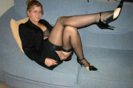 black rht stockings blonde
